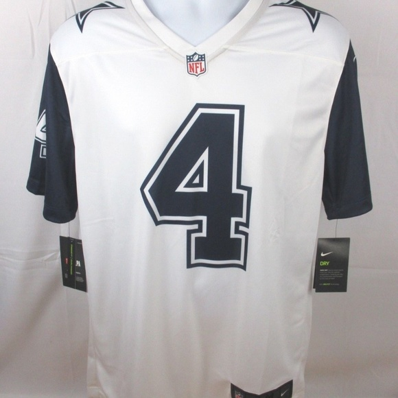 detailed look 92ada d0f7f Nike Dallas Cowboys Dak Prescott color rush jersey NWT